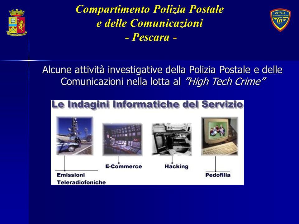 Alcune attività investigative della Polizia Postale e delle Comunicazioni nella lotta al High Tech Crime Compartimento Polizia Postale e delle Comunic