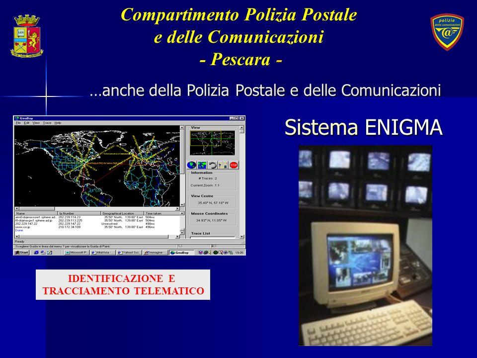 IDENTIFICAZIONE E TRACCIAMENTO TELEMATICO …anche della Polizia Postale e delle Comunicazioni Sistema ENIGMA Compartimento Polizia Postale e delle Comu