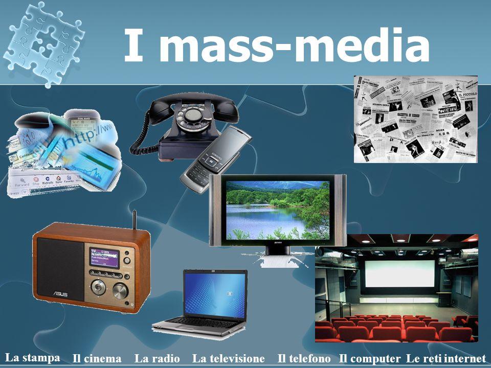 I mass-media La stampa Il cinemaLa radioIl telefonoLa televisioneLe reti internetIl computer