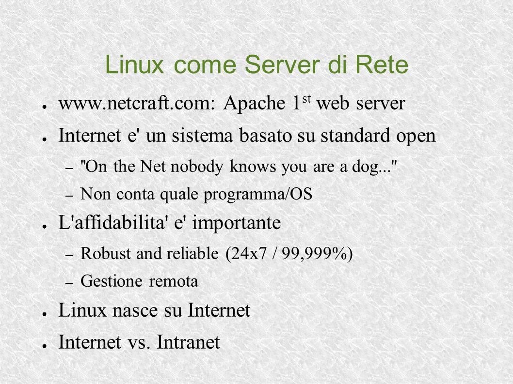 Per Approfondimenti Riviste (italiano): – Inter.Net: www.interpuntonet.it – Linux Journal: www.linuxjournal.it Portali: – www.pluto.linux.it – www.linux.it – www.linuxdevices.com