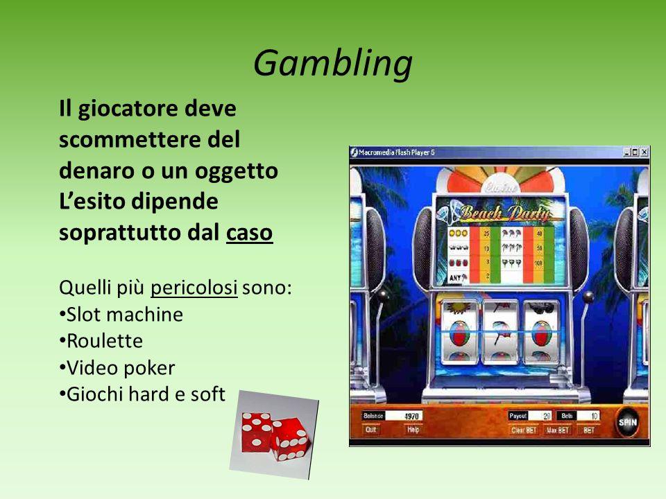 NUOVE DIPENDENZE Sesso (impulso incontrollabile che può portare anche a pratiche rischiose Gambling (gioco dazzardo) Acquisti compulsivi Internet, pc
