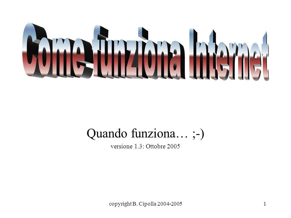 copyright B. Cipolla 2004-20051 Quando funziona… ;-) versione 1.3: Ottobre 2005