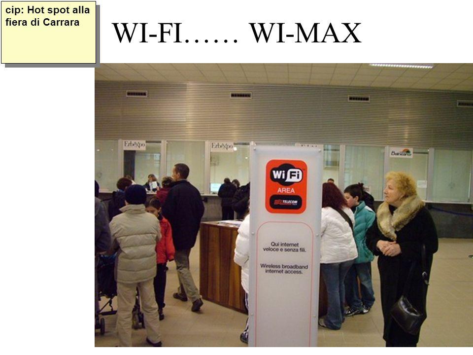 copyright B. Cipolla 2004-200534 WI-FI…… WI-MAX cip: Hot spot alla fiera di Carrara