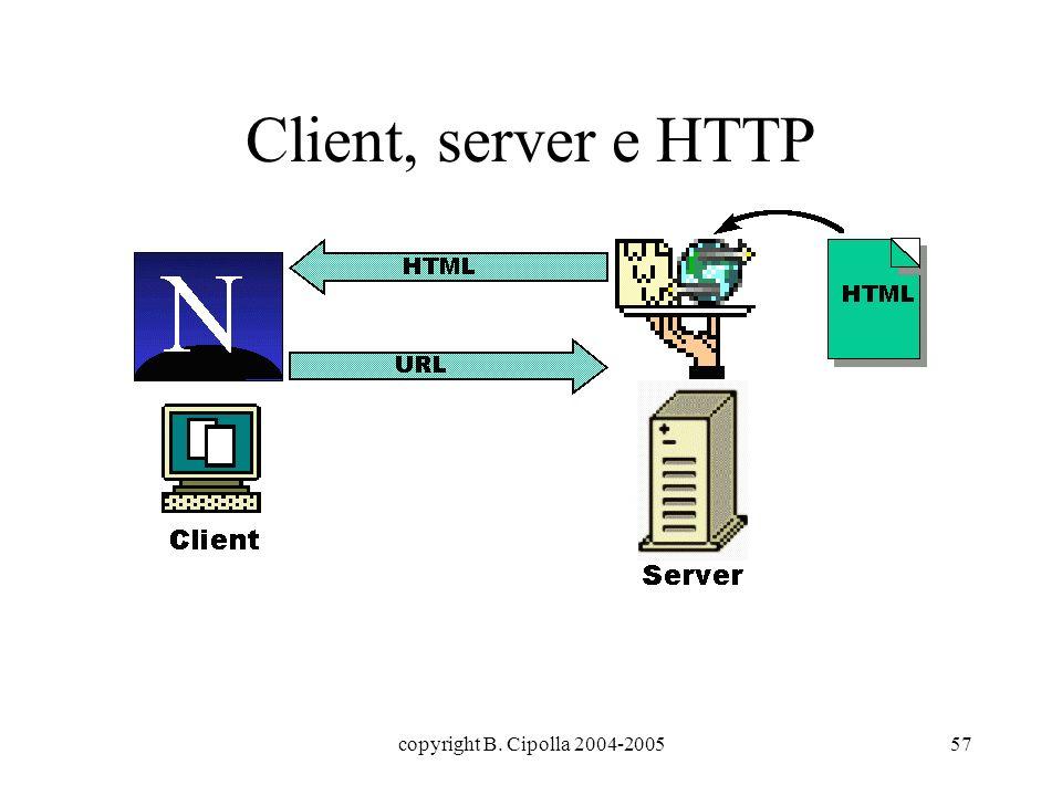 copyright B. Cipolla 2004-200557 Client, server e HTTP
