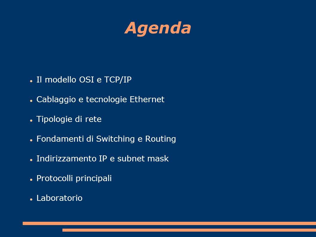 Cablaggio e tecnologie Ethernet