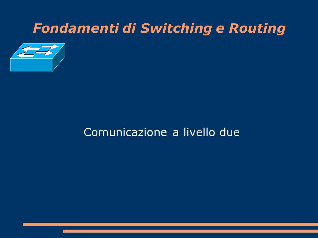 Fondamenti di Switching e Routing Comunicazione a livello due