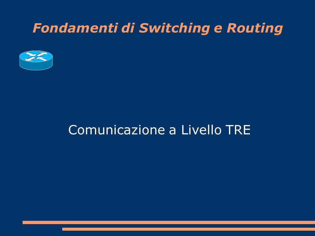 Fondamenti di Switching e Routing Comunicazione a Livello TRE