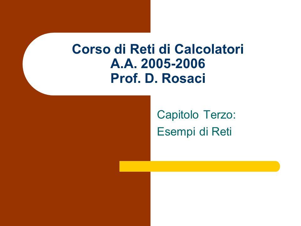 Corso di Reti di Calcolatori A.A. 2005-2006 Prof. D. Rosaci Capitolo Terzo: Esempi di Reti