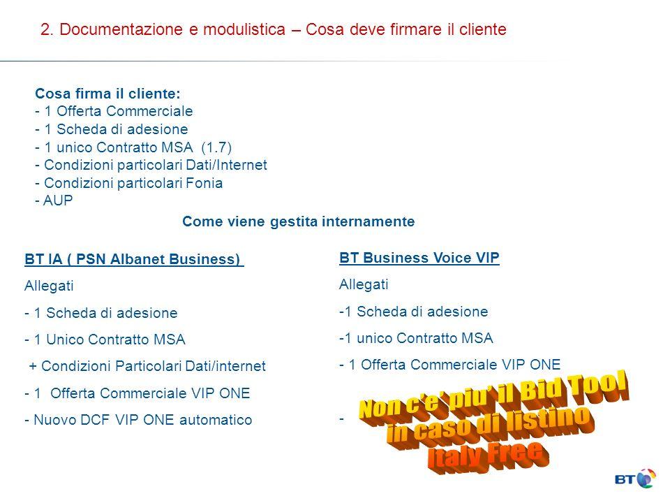 Italy Free Advance 64 kbps256 kbps1 Mbps 128 kbps512 kbps 1 Accesso PRI con15 canali voce 1 Accesso PRI con15 canali voce + 2 fax derivati Scelta Servizio Con la sottoscrizione della presente scheda di adesione il Cliente richiede: conPiano Tariffario (componente voce): Opzione Inrete Partner (EXTRANET ) Attivazione del Servizio eProfilo Internet( banda garantita): Indicare il piano tariffario Indicare il profilo internet 2.