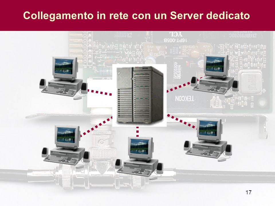 17 Collegamento in rete con un Server dedicato