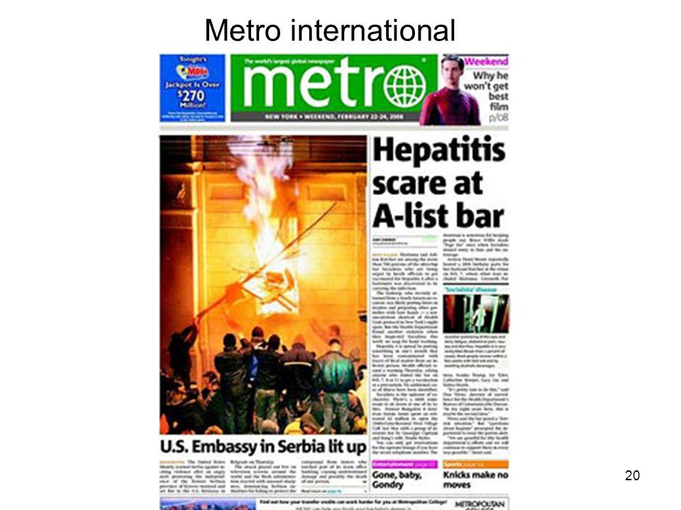20 Metro international
