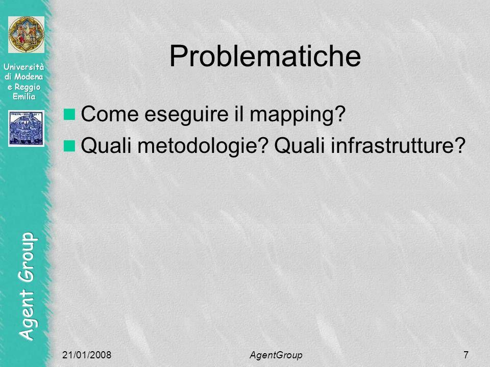 Problematiche Come eseguire il mapping. Quali metodologie.