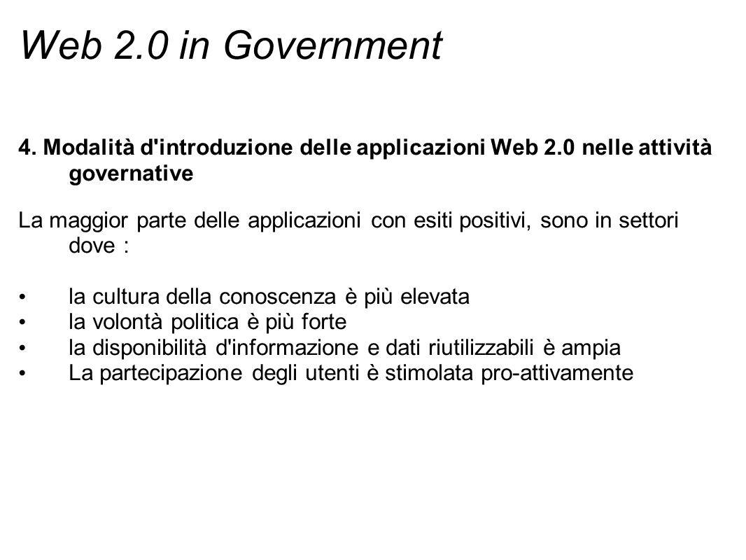 Web 2.0 in Government 4.