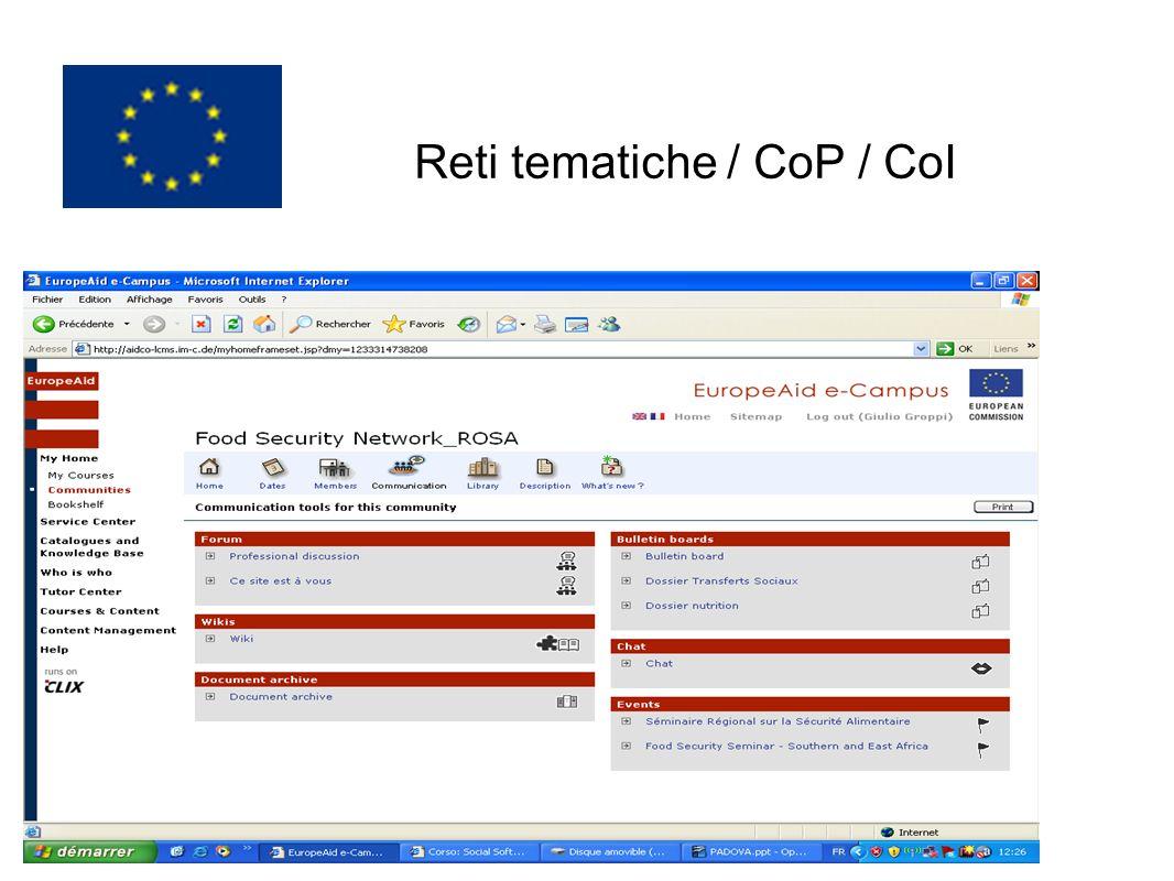 Reti tematiche / CoP / CoI