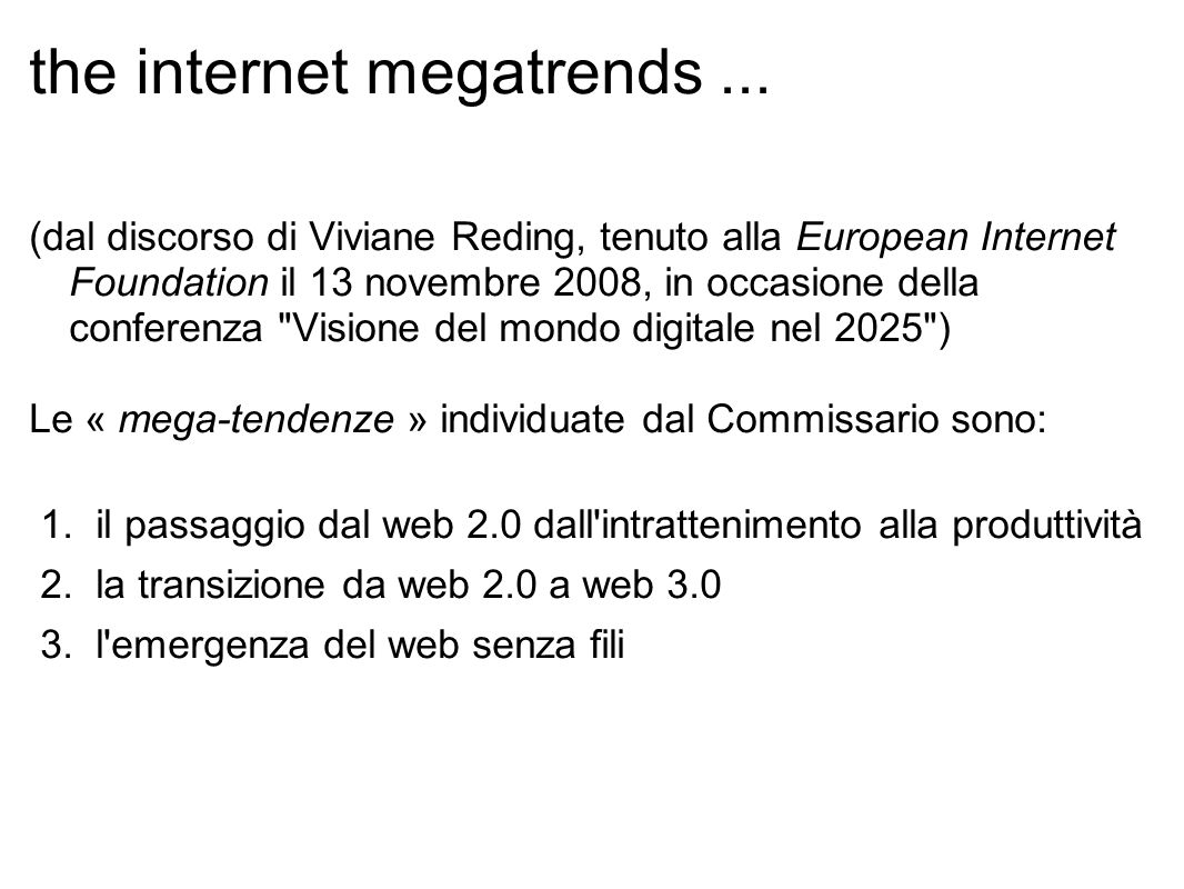 the internet megatrends...