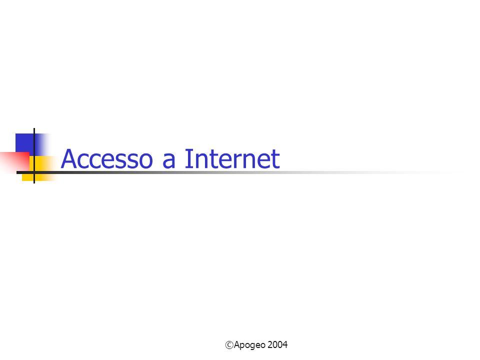 ©Apogeo 2004 Accesso a Internet