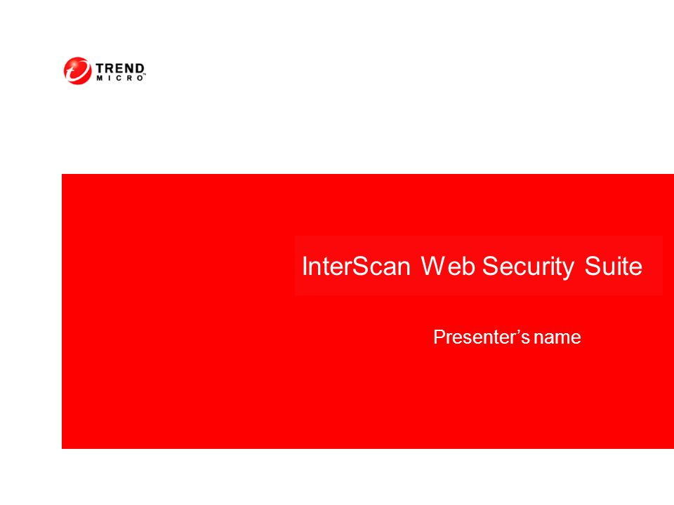 InterScan Web Security Suite Presenters name