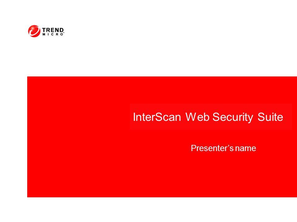 Vantaggi con InterScan Web Security Suite: Riduce la possibilità di nuove minacce Riduce gli sforzi dovuti alla pulizia e al ripristino del servente Protegge e difende le aziende prima della disponibilità di un nuovo pattern Allevia/alleggerisce la paura e lansia prima che il CODICE del virus venga identificato Aumenta il ROI bloccando preventivamente le minacce Vantaggi con InterScan Web Security Suite: Riduce la possibilità di nuove minacce Riduce gli sforzi dovuti alla pulizia e al ripristino del servente Protegge e difende le aziende prima della disponibilità di un nuovo pattern Allevia/alleggerisce la paura e lansia prima che il CODICE del virus venga identificato Aumenta il ROI bloccando preventivamente le minacce Prevenzion e attacco Notifica e assicurazio ne Pattern File Controllo ed eliminazi one Valutazione e pulizia Ripristino e Post-Mortem Informazion e Minacce Prevenzione minacceValutazione e ripristino Risposta del virus Enterprise Protection Strategy