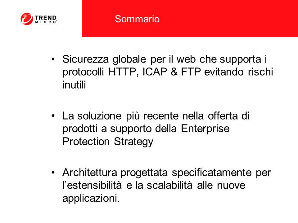 Sommario Sicurezza globale per il web che supporta i protocolli HTTP, ICAP & FTP evitando rischi inutili La soluzione più recente nella offerta di pro