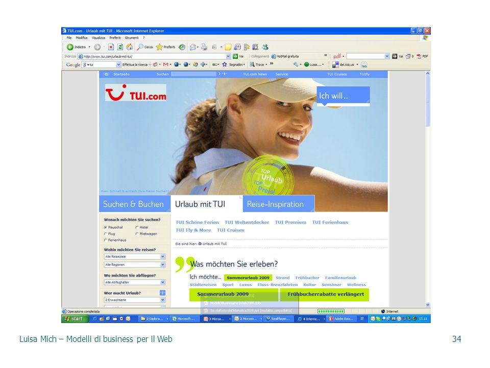 Luisa Mich – Modelli di business per il Web34