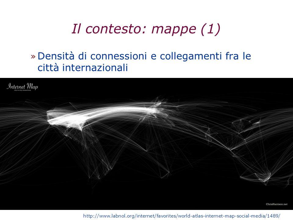 Il contesto: mappe (1) » Densità di connessioni e collegamenti fra le città internazionali http://www.labnol.org/internet/favorites/world-atlas-intern