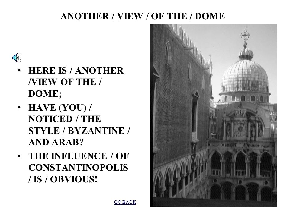 ANOTHER / VIEW / OF THE / COURTYARD / OF THE / DOGI NOW / (YOU) SEE / THE BASILICA; THE CATHEDRAL / IS / CONNECTED /WITH THE / PALACE; POLITICS / AND RELIGION / WERE / VERY / CLOSE / BUT / POLITICALLY / SEPARATE/ IS (IT) / POSSIBLE.