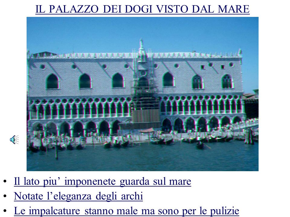 THE PALACE / OF (THE) / DOGI / AND THE / BRIDGE / OF (THE) SIGHS LOOK / HOW / IS / BEAUTIFUL / VENICE / FROM THE / SEA.
