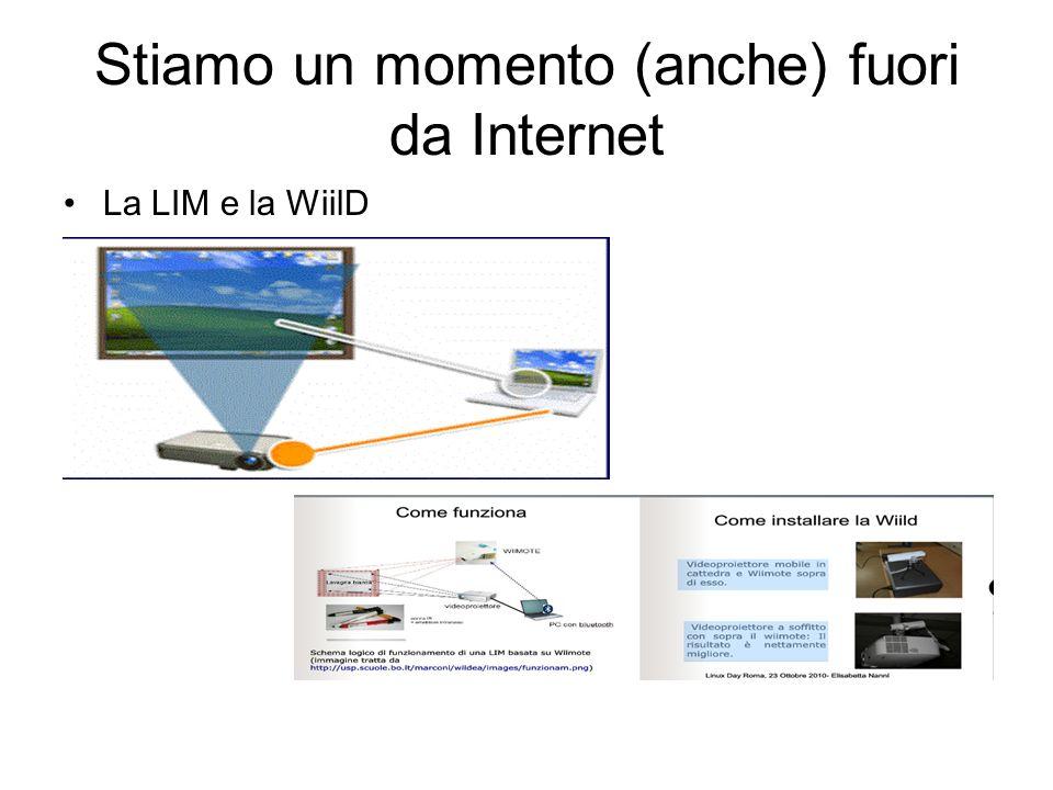 Stiamo un momento (anche) fuori da Internet La LIM e la WiilD