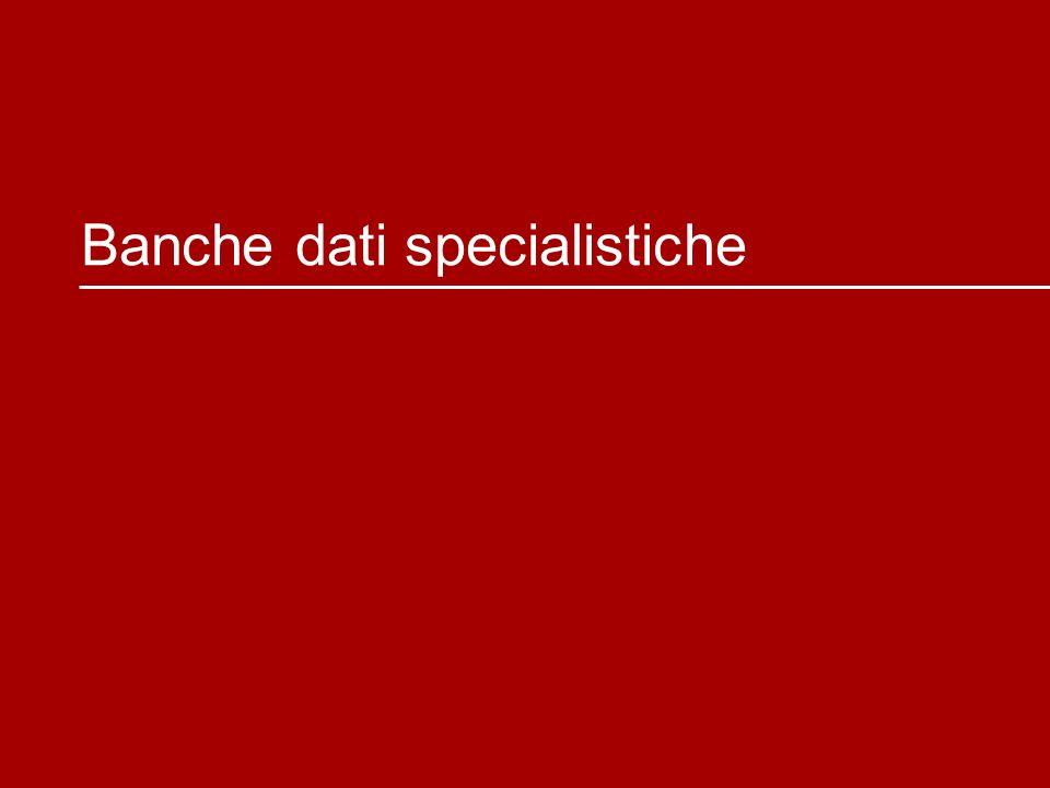 Banche dati specialistiche