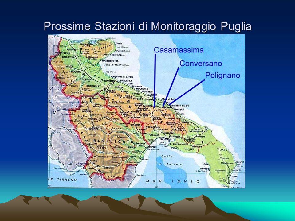 Prossime Stazioni di Monitoraggio Puglia