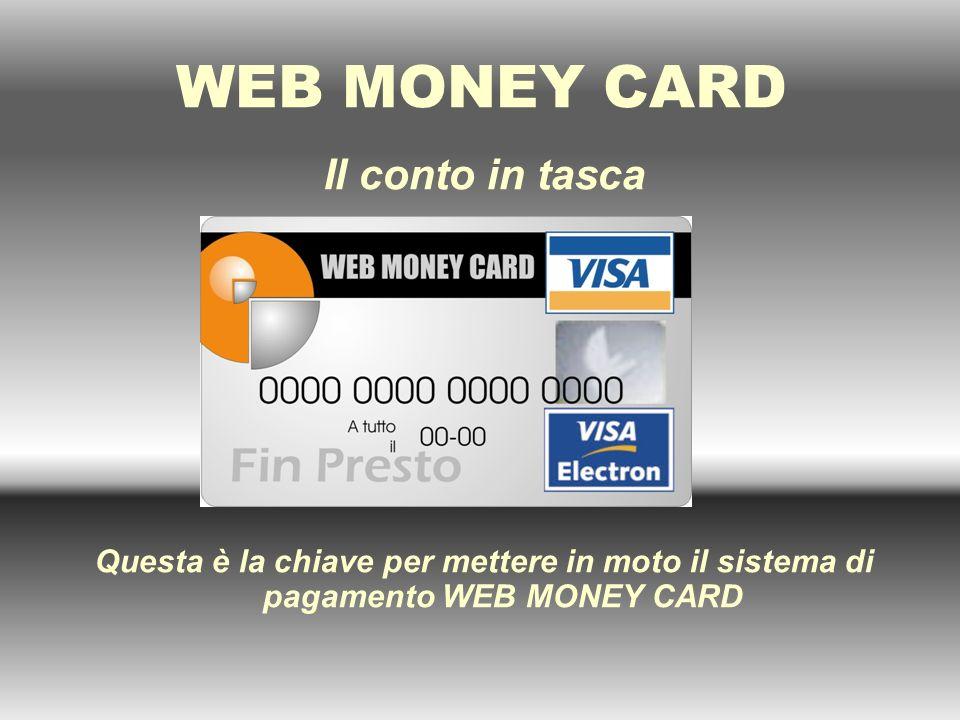 Gli introiti di un WMC POINT Un WMC POINT, guadagna in base alle commissioni generate dallutilizzo dei servizi di WEB MONEY CARD - DISTRIBUZIONE DELLA CARTA E ATTIVAZIONE EURO 3,00 - RICARICA CARTA30% delle commissioni - TRASFERIMENTO MONETARIO CASH TO CASH30% delle commissioni - TRASFERIMENTO MONETARIO CASH TO CARD30% delle commissioni - RICARICHE TELEFONICHE20% delle commissioni - PAGAMENTO UTENZE 30% delle commissioni INTERNATIONAL MONEY TRANSFER 30% delle commissioni previste dalla speciale tabella