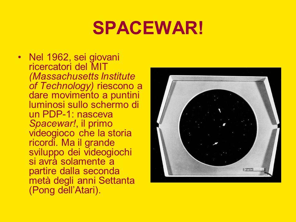 SPACEWAR! Nel 1962, sei giovani ricercatori del MIT (Massachusetts Institute of Technology) riescono a dare movimento a puntini luminosi sullo schermo
