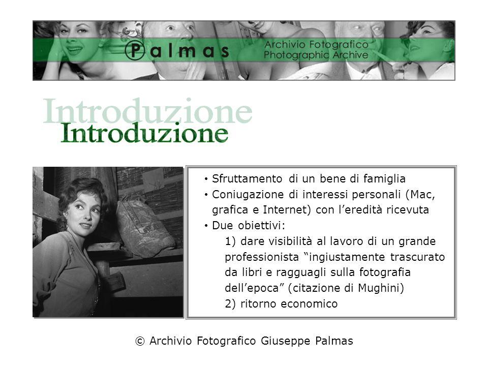 © Archivio Fotografico Giuseppe Palmas Breve biografia Caratteristiche archivio: organizzazione e struttura Macchine, pellicole e tecniche usate
