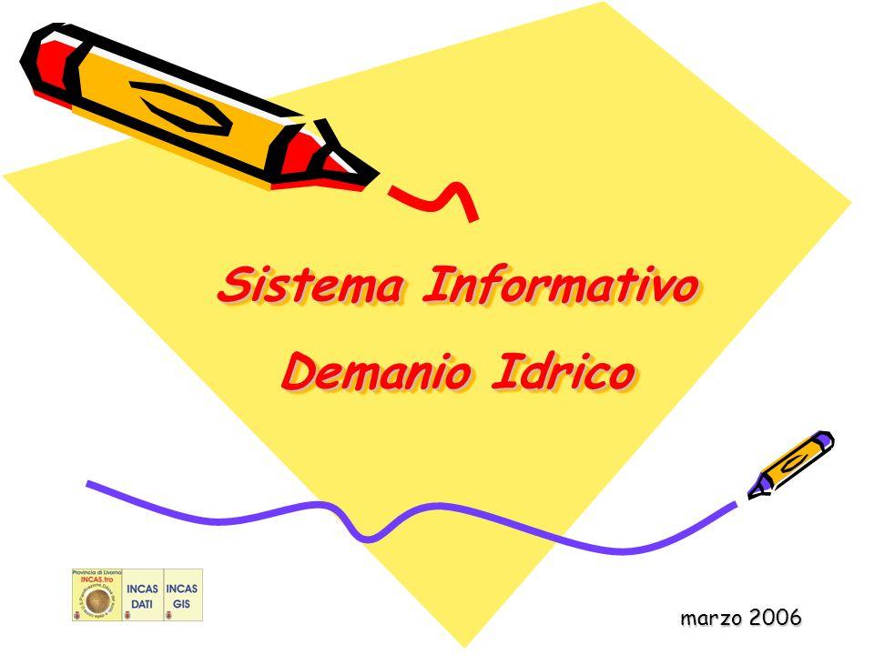 Sistema Informativo Demanio Idrico marzo 2006