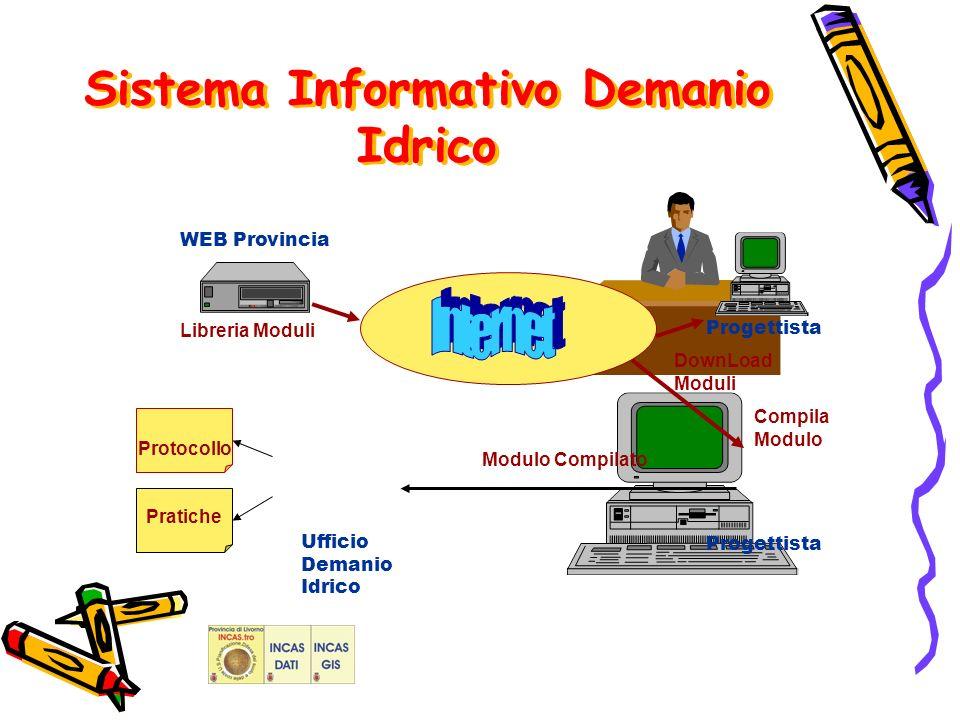 Pratiche DownLoad Moduli Libreria Moduli Compila Modulo Protocollo Modulo Compilato Ufficio Demanio Idrico Progettista WEB Provincia Sistema Informativo Demanio Idrico