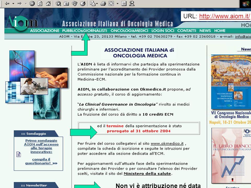 URL: http://www.aiom.it/http://www.aiom.it/ Non vi è attribuzione né data