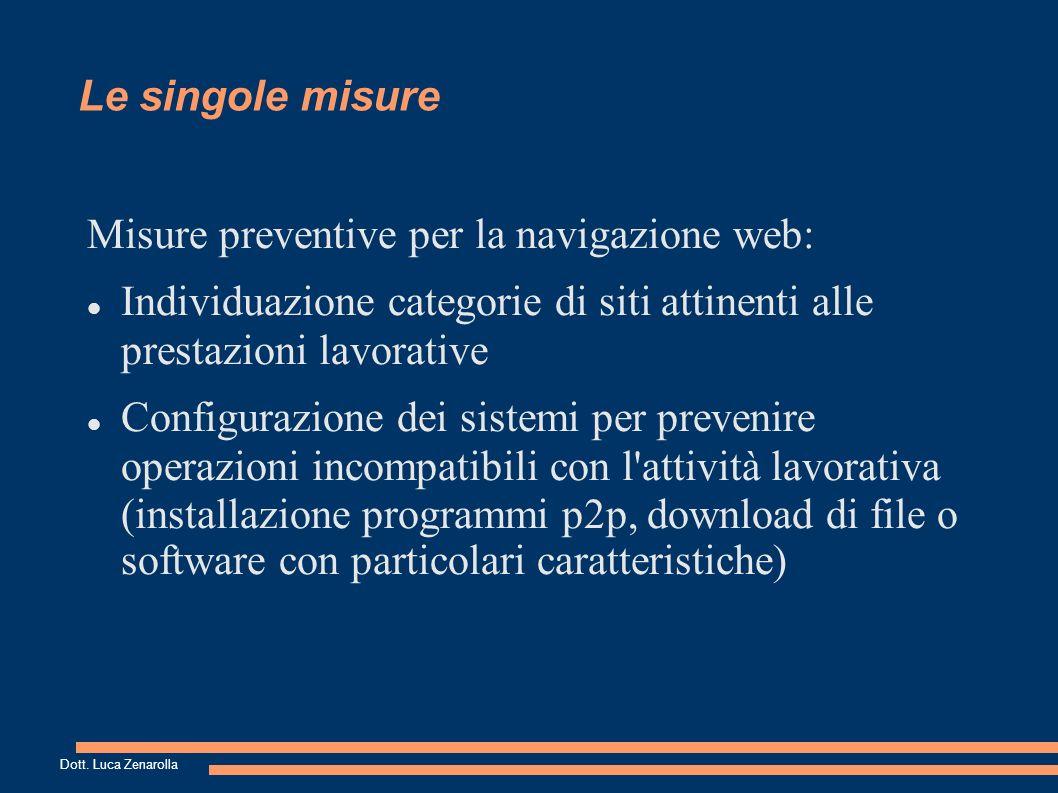 Le singole misure Misure preventive per la posta elettronica: Implementazione indirizzi condivisi tra più lavoratori (es.