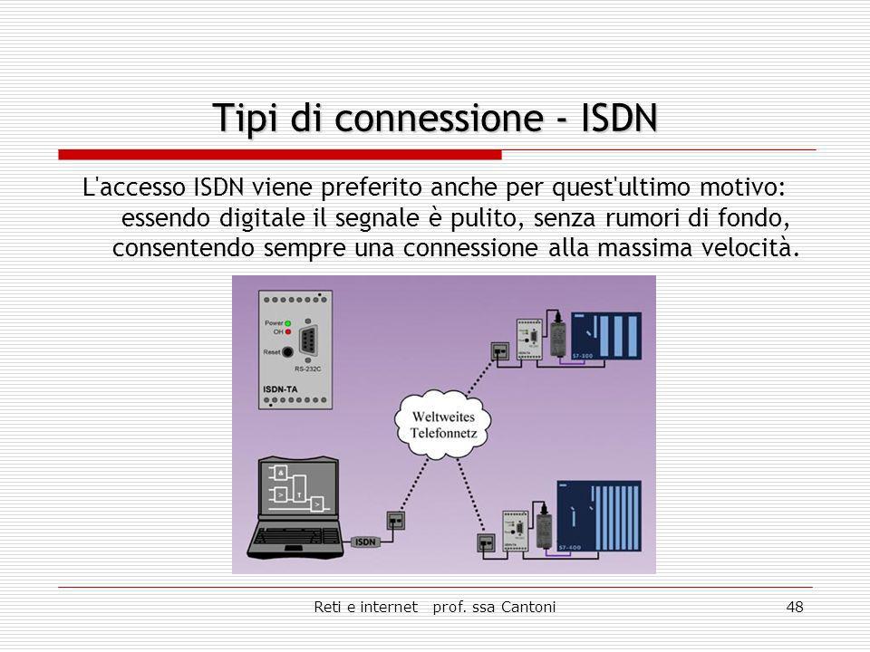 Reti e internet prof. ssa Cantoni47 Connessione digitale.