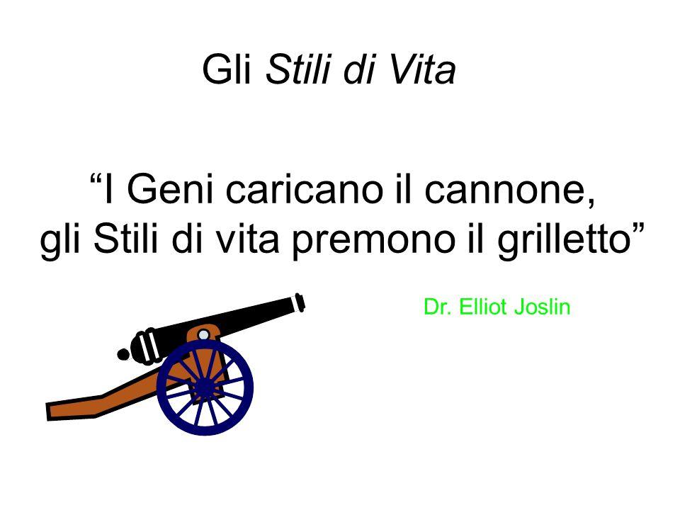 I Geni caricano il cannone, gli Stili di vita premono il grilletto Dr. Elliot Joslin Gli Stili di Vita