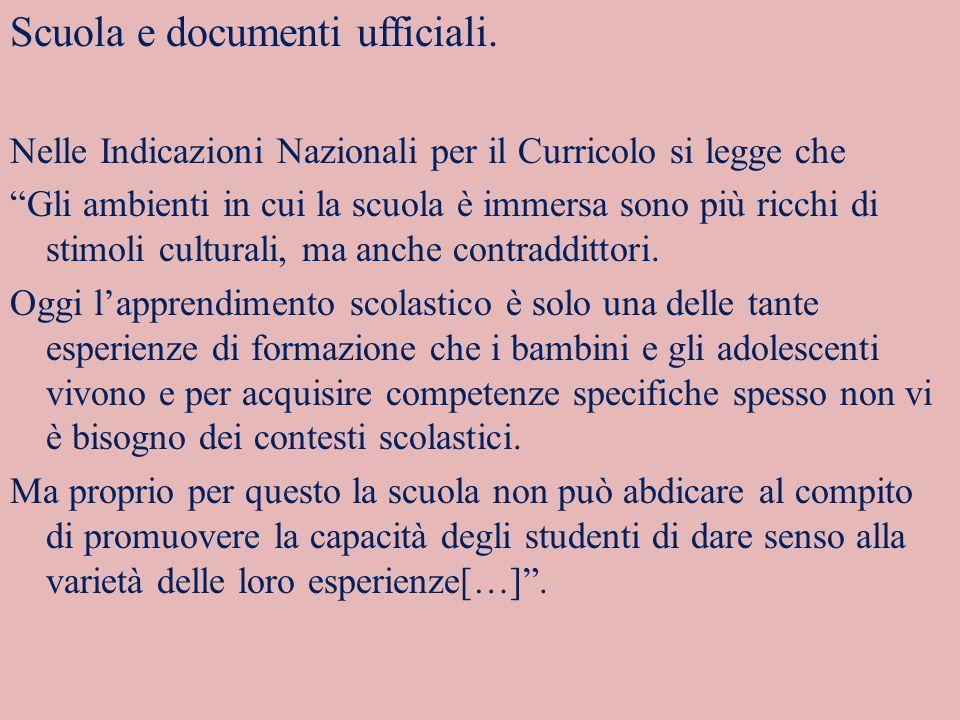 Scuola e documenti ufficiali.