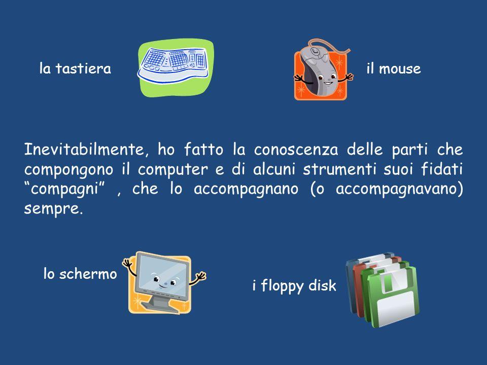 il mousela tastiera lo schermo Inevitabilmente, ho fatto la conoscenza delle parti che compongono il computer e di alcuni strumenti suoi fidati compagni, che lo accompagnano (o accompagnavano) sempre.