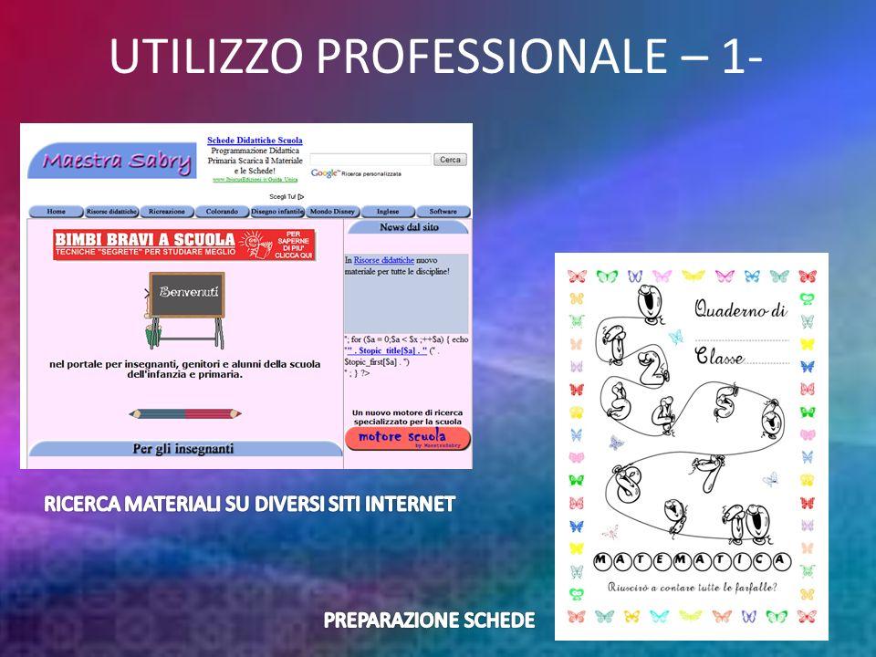 UTILIZZO PROFESSIONALE – 1-