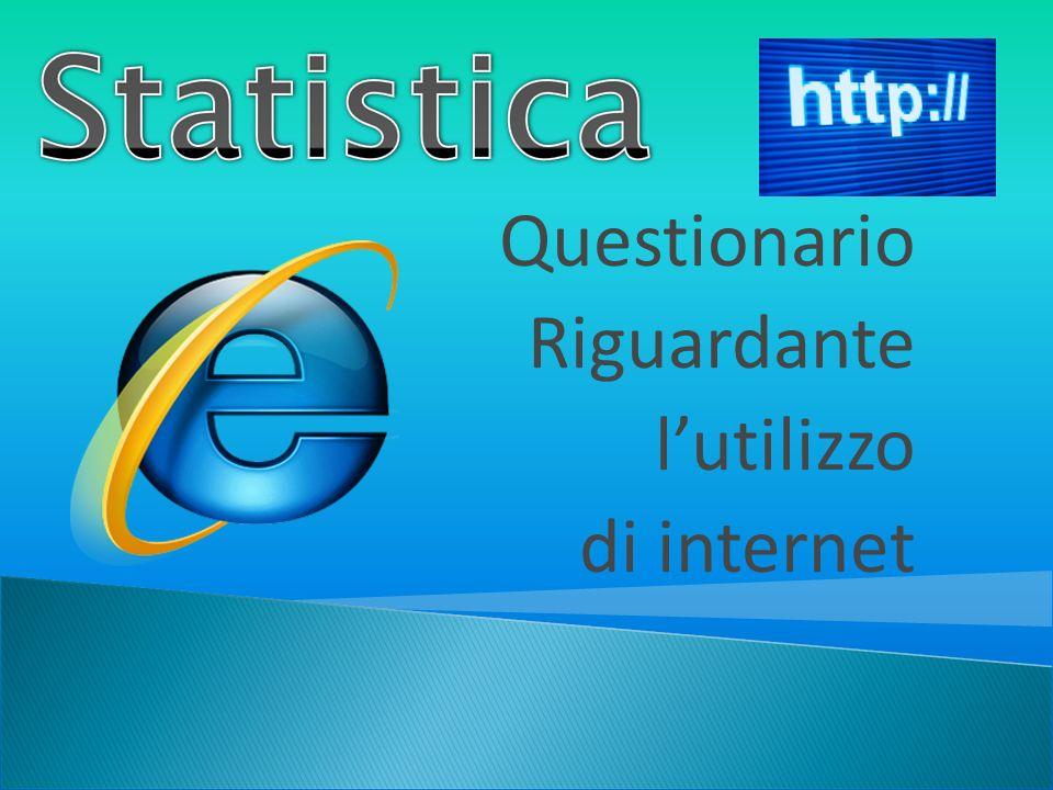 Obbiettivo del sondaggio: si vuole conoscere quanto e come è diffuso lutilizzo di internet nella nostra società.