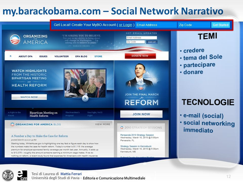 12 my.barackobama.com – Social Network Narrativo