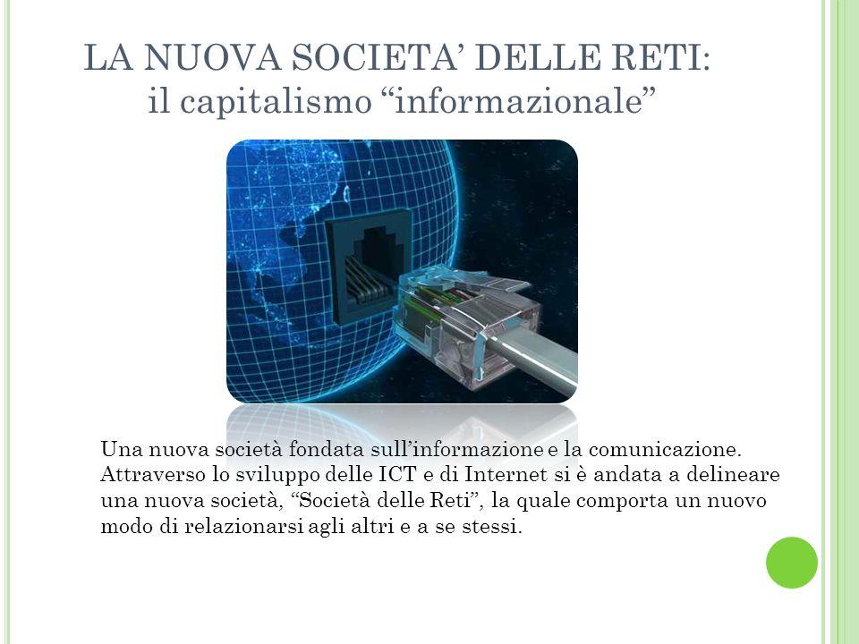 LA NUOVA SOCIETA DELLE RETI: il capitalismo informazionale Una nuova società fondata sullinformazione e la comunicazione.