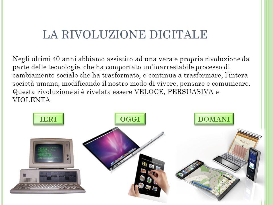 LA RIVOLUZIONE DIGITALE In tempi di sviluppo delle tecnologie.