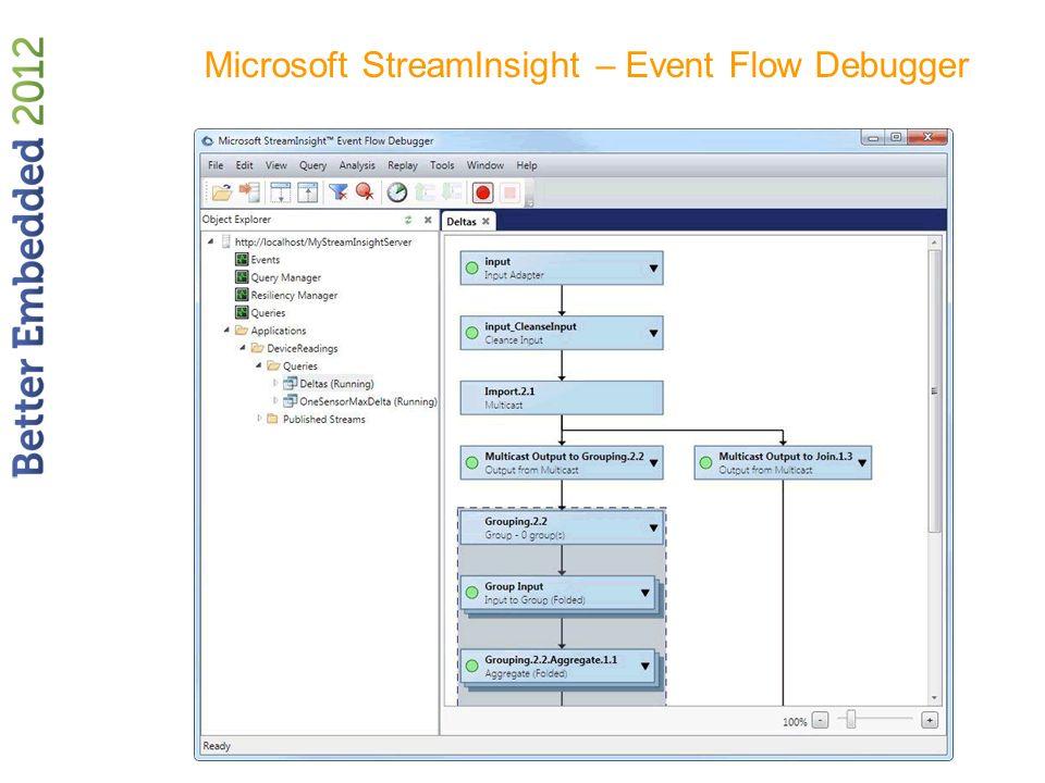 Microsoft StreamInsight – Event Flow Debugger