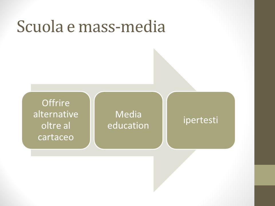 Scuola e mass-media Offrire alternative oltre al cartaceo Media education ipertesti