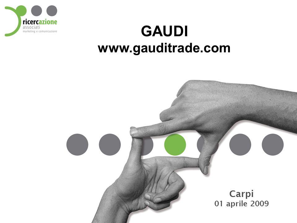 www.gauditrade.com Panoramica Visitatori On-line nuovo sito Visite medie quotidiane: 398 Visite medie quotidiane: 893 + 124% Attesa di indicizzazione