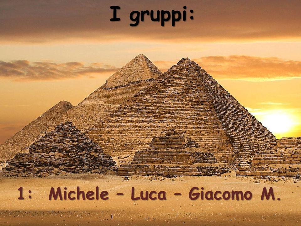 I gruppi: 1: Michele – Luca – Giacomo M.